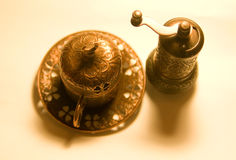 杯用土耳其咖啡 库存图片