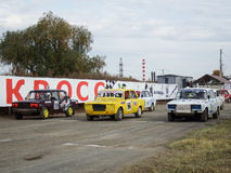 杯的决赛autocross的俄罗斯 免版税库存照片