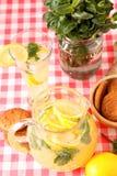 杯自创柠檬水 免版税库存照片