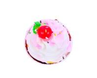 杯蛋糕用樱桃,顶视图 库存照片