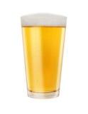 杯金黄低度黄啤酒 免版税图库摄影
