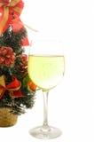 杯香槟在圣诞节和新年 库存图片