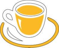杯黄色 免版税库存图片
