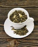 杯绿茶 库存图片
