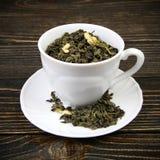 杯绿茶 免版税库存照片