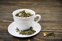 杯绿茶 免版税库存图片