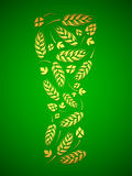 杯从蛇麻草和麦芽的啤酒 图库摄影