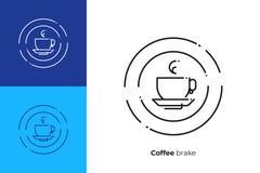 杯cofee热的饮料线艺术传染媒介象 库存例证