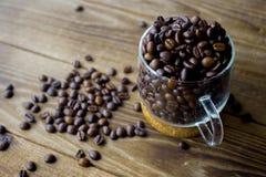 杯Coffe豆 免版税库存图片