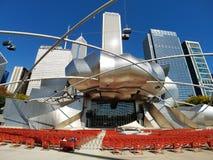 杰・普利兹克露天音乐厅,芝加哥 库存照片