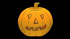 杰克微笑透明的O'Lantern/阿尔法动画片 股票录像
