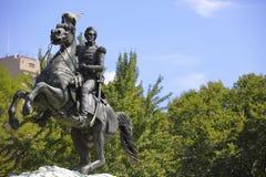 杰克逊将军华盛顿特区雕象  库存照片
