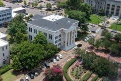 杰克逊市政厅城市在街市杰克逊,MS 免版税库存图片