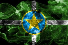 杰克逊市烟旗子,密西西比状态, Ame美国  免版税库存图片