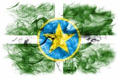 杰克逊市烟旗子,密西西比状态, Ame美国  向量例证