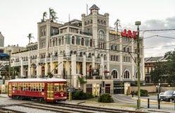 杰克逊广场的Jax啤酒厂在新奥尔良 免版税图库摄影