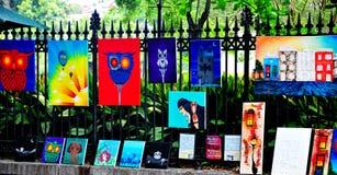 杰克逊广场艺术在新奥尔良, LA 免版税图库摄影