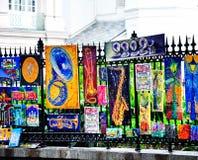 杰克逊广场艺术在新奥尔良, LA 免版税库存图片