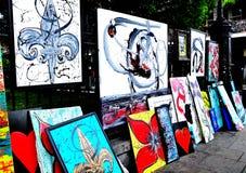 杰克逊广场艺术在新奥尔良, LA 库存图片