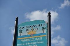 杰克逊维尔海滩停车处,杜瓦尔县佛罗里达 库存图片