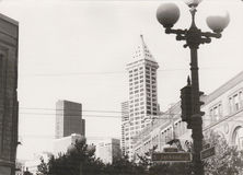 1982年杰克逊街在西雅图,华盛顿州,美国 库存照片