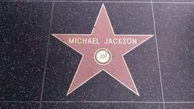 杰克逊迈克尔星形 库存图片