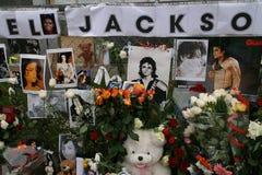 杰克逊进贡的前迈克尔・莫斯科 库存照片