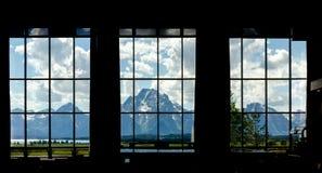 杰克逊Hole大提顿峰山 库存图片
