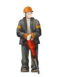 杰克锤子工作者 运作在建筑工作例证的建造者 库存图片