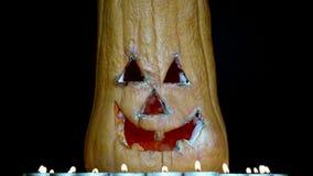 杰克O灯笼在黑暗的背景1中 影视素材