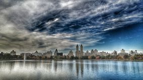 杰奎琳・肯尼迪水库是中央公园- NYC聚焦  库存照片