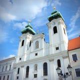 杰尔大教堂,匈牙利 图库摄影