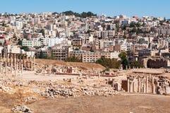 杰拉什,上古,杰拉什省,约旦,中东Gerasa  图库摄影