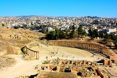 杰拉什,约旦废墟  免版税库存图片
