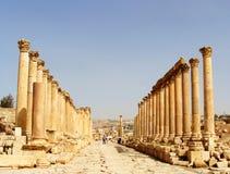 杰拉什,老城市在约旦 免版税库存照片