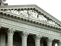 杰斐逊城国会大厦大厦带状装饰上面 免版税库存图片