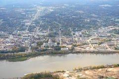 杰斐逊城密苏里鸟瞰图  免版税库存照片