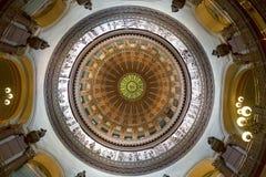 杰斐逊城,密苏里- 2017年6月14日:圆形建筑的i的照片 免版税库存图片