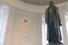 杰斐逊纪念碑 库存照片