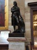 杰斐逊雕象美国首都大厦 免版税图库摄影