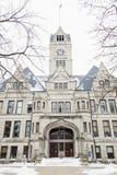 杰斯帕县法院大楼在伦塞勒 免版税库存照片