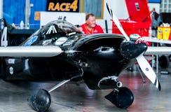 杰瑞马歇尔没有` s的飞机 4个`跟斗杂草`航空器塑造在空气种族1世界杯泰国的Cassutt III-M 2017年在U-Tapao空军基地 库存图片