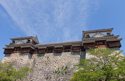 松山南北壁角塔楼防御,日本 免版税图库摄影