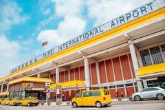 松山国际机场在台北,台湾 库存照片