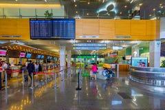 松山机场的报道登记柜台 免版税库存照片