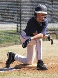松弛小职业棒球联盟球员 库存图片