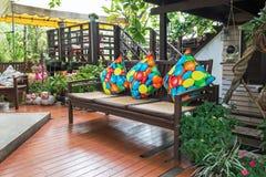 松弛椅子在休息区 库存图片