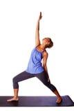 松弛瑜伽锻炼 免版税库存照片