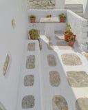 美丽如画的房子围场在地中海海岛 库存照片
