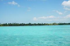 绿松石加勒比海 免版税库存图片